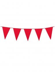 Ghirlanda con mini festoni rossi 3 m