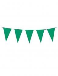 Ghirlanda verde con mini festoni 3 m