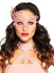 Maschera sexy in pizzo rosa donna