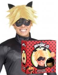 Cofanetto parrucca e maschera di Chat Noir Miraculous™ per adulto
