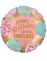 Palloncino Happy Birthday Fabulous
