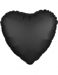 Palloncino alluminio cuore nero satinato 43 cm