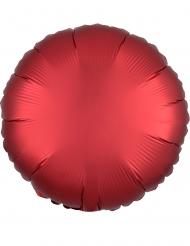 Palloncino in alluminio tondo rosso rubino