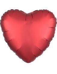 Palloncino alluminio cuore rosso rubino satinato 43 cm