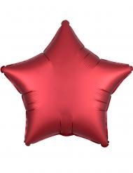 Palloncino alluminio stella rosso rubino satinato 43 cm