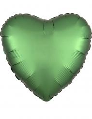 Palloncino alluminio cuore verde smeraldo satinato 43 cm
