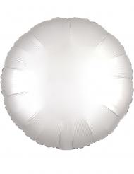Palloncino alluminio tondo bianco
