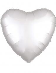 Palloncino alluminio cuore bianco