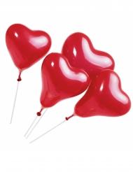 5 Palloncini cuore con asticella