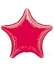 Palloncino in alluminio a forma di stella rossa