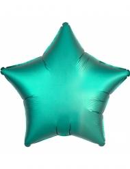 Palloncino in alluminio stella verde menta