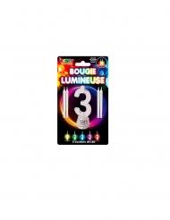 Candeline luminose LED numero 3