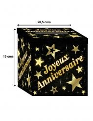urna in cartone nero e oro per compleanno
