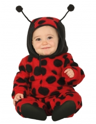 Costume da coccinella con cappuccio per neonato