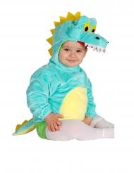 Costume tunica con cappuccio coccodrillo neonato
