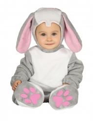 Costume da coniglietto con cappuccio per neonato