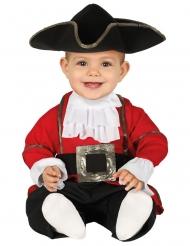 Costume tuta da pirata rosso neonato