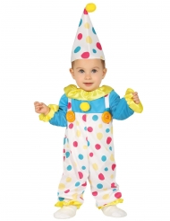 Costume da clown a pois per neonato