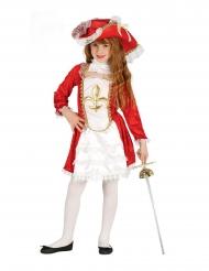 Costume da moschettiere rosso per bambina