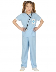 Costume da veterinaria azzurro per bambina