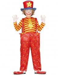 Costume da clown multicolore divertente per bambino
