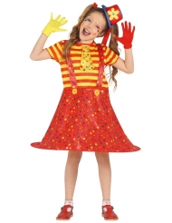 Costume da clown multicolore divertente per bambina