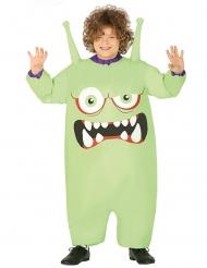 Costume gonfiabile da alieno mostro verde per bambino