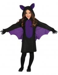 Costume pipistrello nero e viola bambina