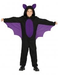 Costume tuta da pipistrello nero e viola bambino