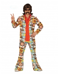 Costume disco a motivi geometrici per uomo