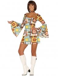 Costume vestito disco geometrico per donna