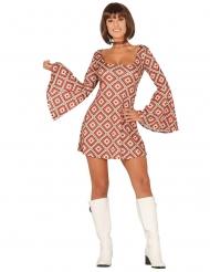 Costume vestito disco a rombi per donna