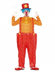 Costume da clown multicolore divertente per uomo