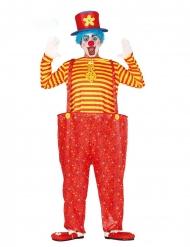 Costume da clown multicolore divertente per uomo