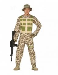 Costume da soldato del deserto per uomo