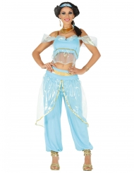 Costume da principessa orientale azzurro per donna