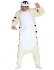 Costume tuta tigre bianca adulto