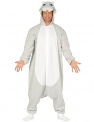 Costume tuta ippopotamo adulto