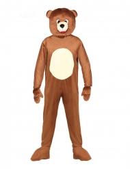 Costume da orso mascotte per adulto