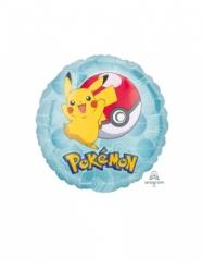 Palloncino in alluminio rotondo Pikachu Pokemon™ 23 cm