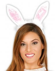 Cerchietto orecchie da coniglio per adulto