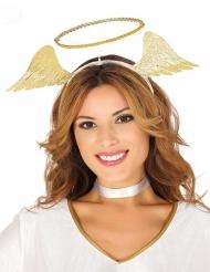 Cerchietto angelo dorato per donna