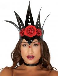 Corona nera da regina  per donna