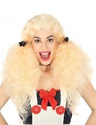 Parrucca codine bionde per donna