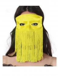 Maschera gialla con frange adulto