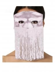 Maschera rosa con frange adulto