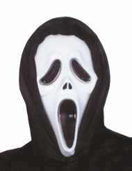 Maschera in plastica da assassino per adulto
