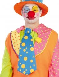 Cravatta blu gigante da clown per adulto