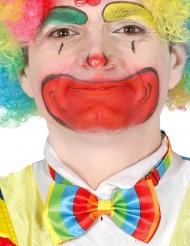 Papillon multicolore da clown per adulto