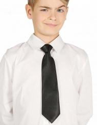 Cravatta nera per bambino 30 cm